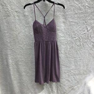AEO Purple cotton and lace dress Size Small